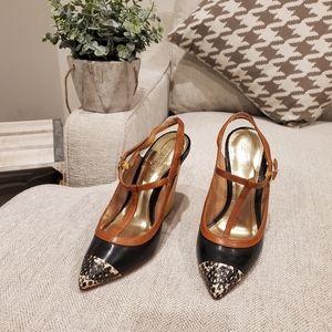 Brand new Coach Frankie wooden heels size 5B